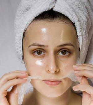 máscaras faciales rejuvenecedores de gelatina