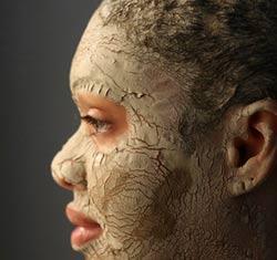 máscaras faciales de arcilla