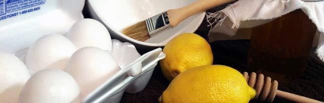 Маска белок с лимоном