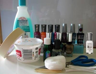 наращивание ногтей акрилом материалы
